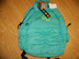 puma procat compartment turquoise backpack ruched