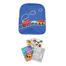 On Sale2 Item Bundle 5907 Blue Train Backpack