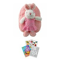 On Sale2 Item Bundle 8265 Pink Bunny Backpack