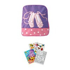 On Sale5922L Purple Ballet Shoes Backpack