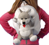 along teddy plush backpack -lightweight -safe