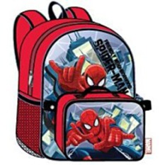 Spiderman 15 Backpack With Lunch Bag