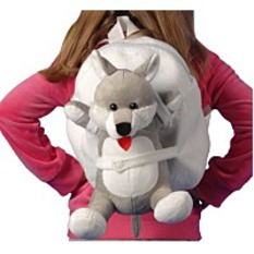Tag Along Teddy Plush Dog Backpack