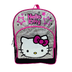 hello kitty school backpack black silver