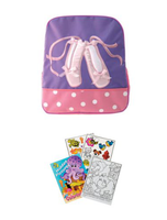 5922L Purple Ballet Shoes Backpack
